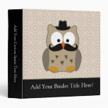 Owl with Mustache and Hat Binders