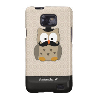 Owl with Mustache and Hat Samsung Galaxy S2 Cases