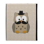 Owl with Mustache and Hat iPad Folio Case
