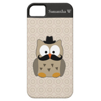 Owl with Mustache and Hat iPhone SE/5/5s Case