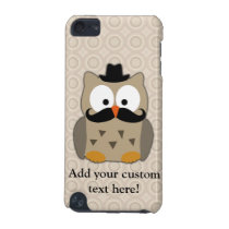 Owl with Mustache and Hat iPod Touch (5th Generation) Case