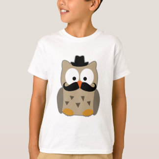 Owl with Mustache and Hat T-Shirt