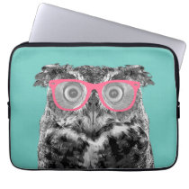 Owl with Pink Glasses Cute Funny Phone Case