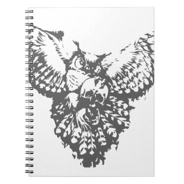 scorpionagency Owl With Skull Notebook