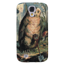 Owl with Spade  Galaxy S4 Case
