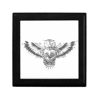 Owl With Sugar Skull Gift Box