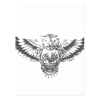 Owl With Sugar Skull Postcard