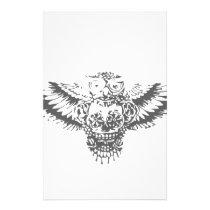 Owl With Sugar Skull Stationery