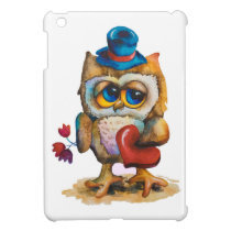 Owl with the heart iPad Mini Case White