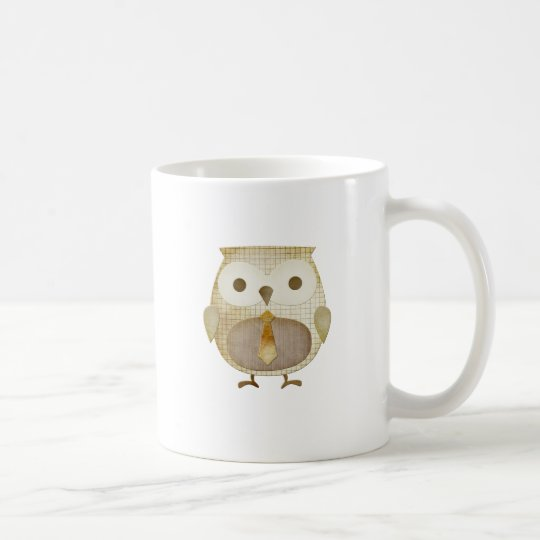 Owl with Tie Coffee Mug