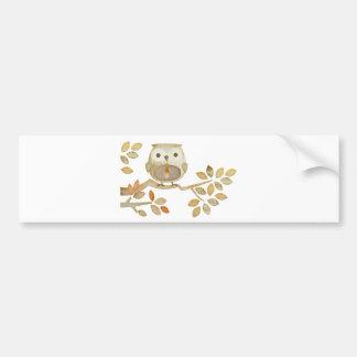 Owl with Tie in Tree Bumper Sticker