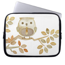Owl with Tie in Tree Electronics Bag