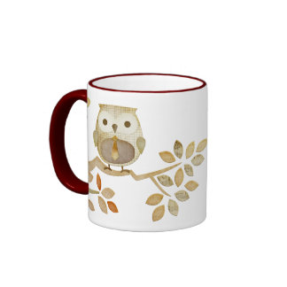 Owl with Tie in Tree Mug