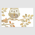 Owl with Tie in Tree Sticker