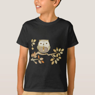 Owl with Tie in Tree T-Shirt