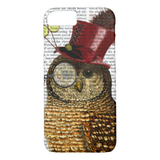Owl With Top Hat 3 iPhone 7 Case