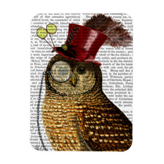 Owl With Top Hat 3 Magnet