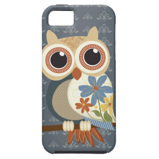 Owl with Vintage Flowers iPhone 5 iPhone 5 Cases
