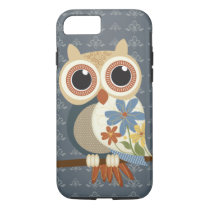 Owl with Vintage Flowers iPhone 7 case
