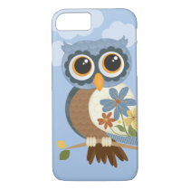 Owl with Vintage Flowers iPhone 8/7 Case