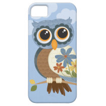 Owl with Vintage Flowers iPhone SE/5/5s Case
