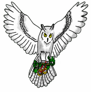 Owl with Wedding Rings Statuette