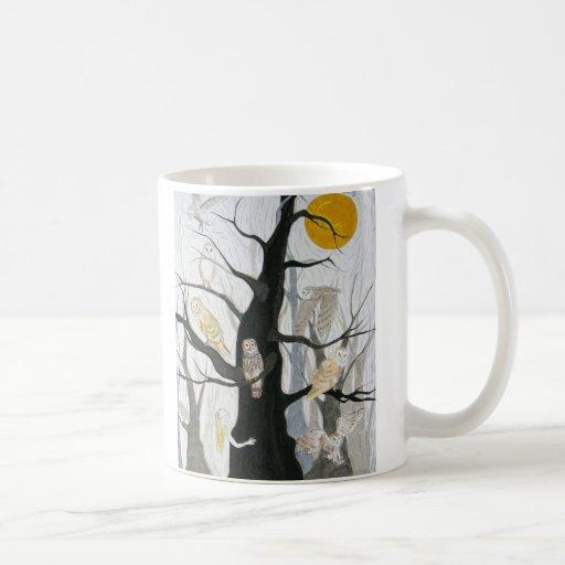 Owl Wood Coffee Mug