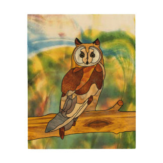 Owl Wood Wall Art