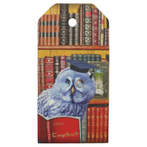 owl wooden gift tags