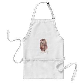 Owl woodland bird adult apron
