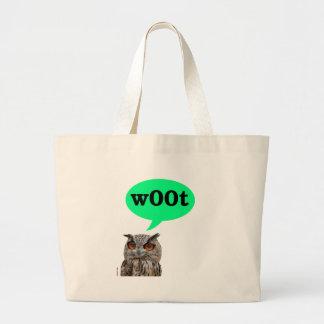 Owl Woot Large Tote Bag
