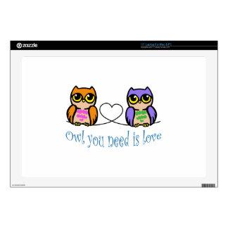 "Owl You Need 17"" Laptop Skin"