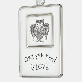 Owl you Need Christmas Ornament