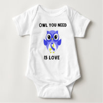 Owl You Need is Love, Down Syndrome Awareness Baby Bodysuit