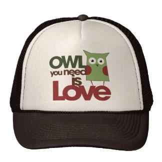 Owl you need is love mesh hats