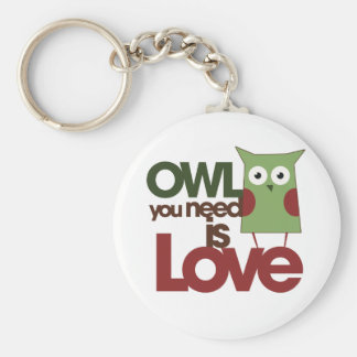 Owl you need is love keychain