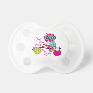 Owl you need is love pacifier