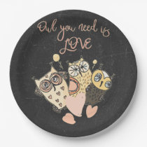 Owl you need is LOVE Paper Plate