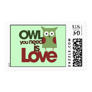 Owl you need is love postage