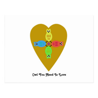 Owl You Need Is Love Postcard