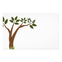 Owl You Need Is Love Tree Stationery