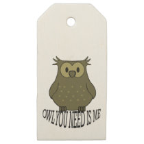 owl you need is me wooden gift tags