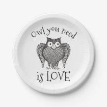 Owl you Need Paper Plate