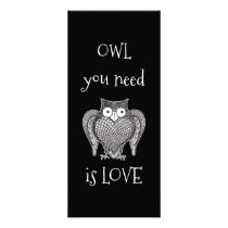 Owl you Need Rack Card