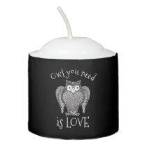 Owl you Need Votive Candle
