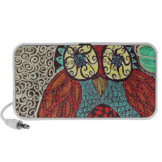 Owl zentangle doodle speaker