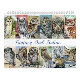 Owl zodiac fantasy watercolors 2015 calendar