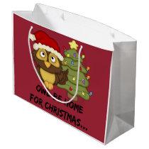 OwlBeHome4Christmas Large Gift Bag