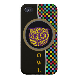 owlbird & colored pixels iPhone 4 cover
