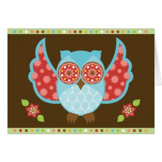 OwlBoheme Blu Notecard